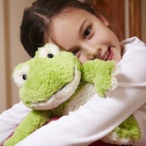 Girl holding Intelex Frog